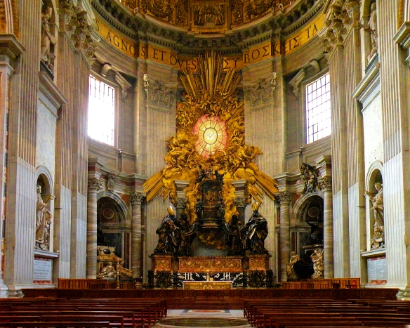 The Chair of St Peter in St Peter's Basilica_Photo credit: Wikipedia