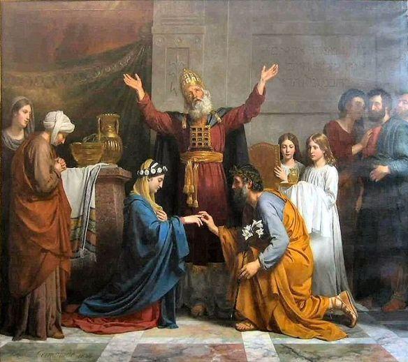 Le mariage de la Vierge_Alexandre François Caminade (1824) - Photo credit: Wikimedia Commons